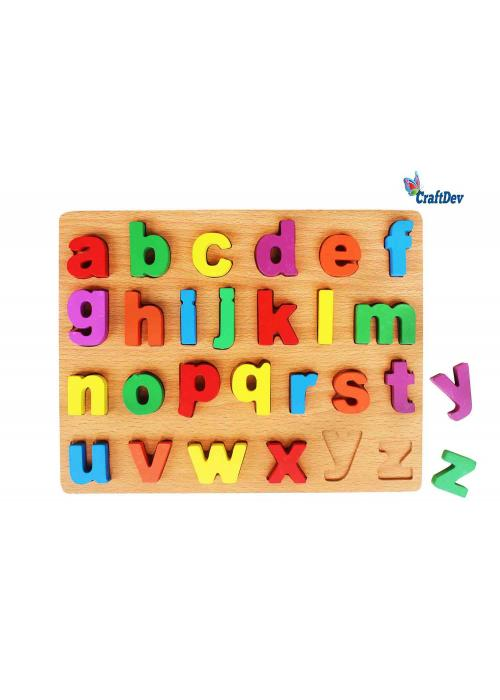 A4 Wooden Alphabet Board With Chunky Letters Lower Case