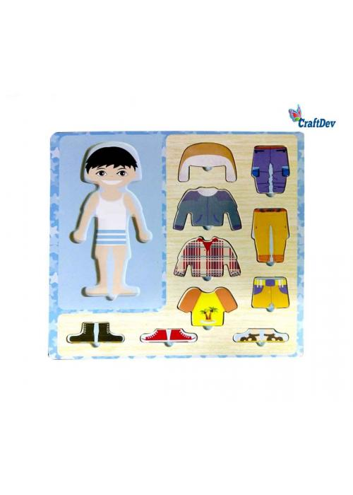 Wooden Dress Up Puzzle Boy